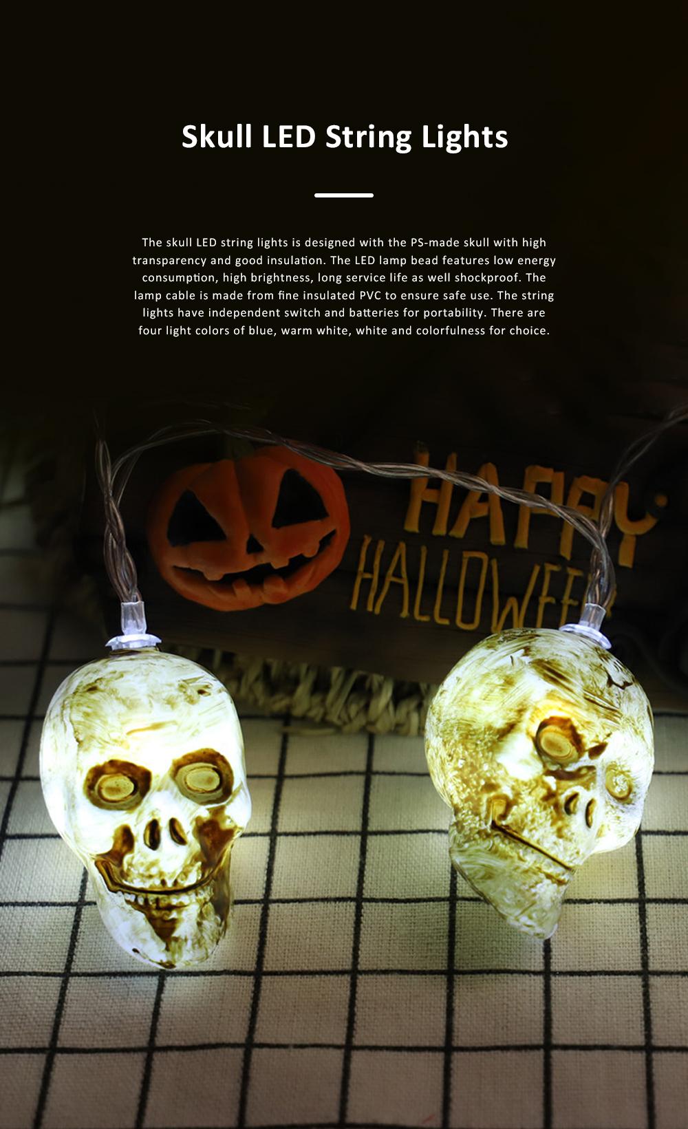 Skelton LED String Lights for Hallows' Day Decoration New Style Skull Spirit Festival Decorative Lighting Chains 0