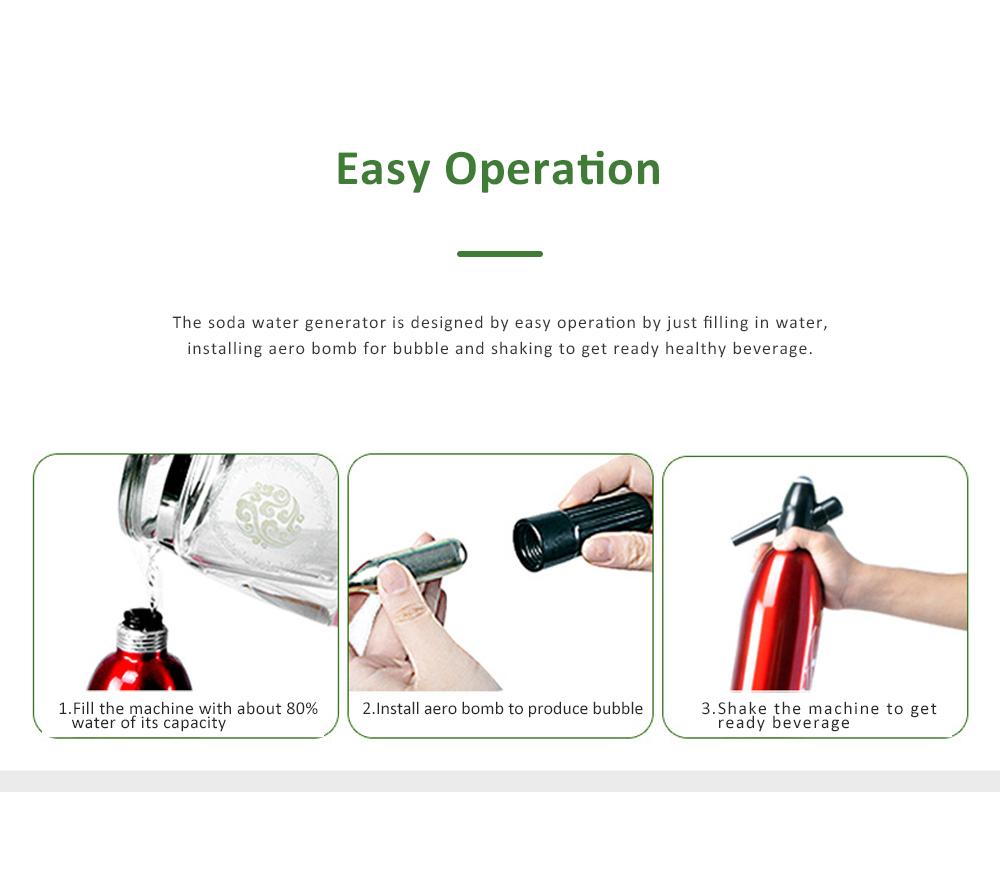 Portable Soda Water Generator DIY Beverage Making Household Aerated Water Machine DIY Cold Drink Producer Juice Maker 1
