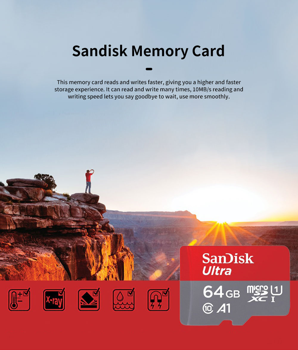 Sandisk Memory Card 400G 256G 200G 128G 64G 32G 16G 8G 98m/s High Speed TF Card C10 Security Recorder SD Storage Card 0