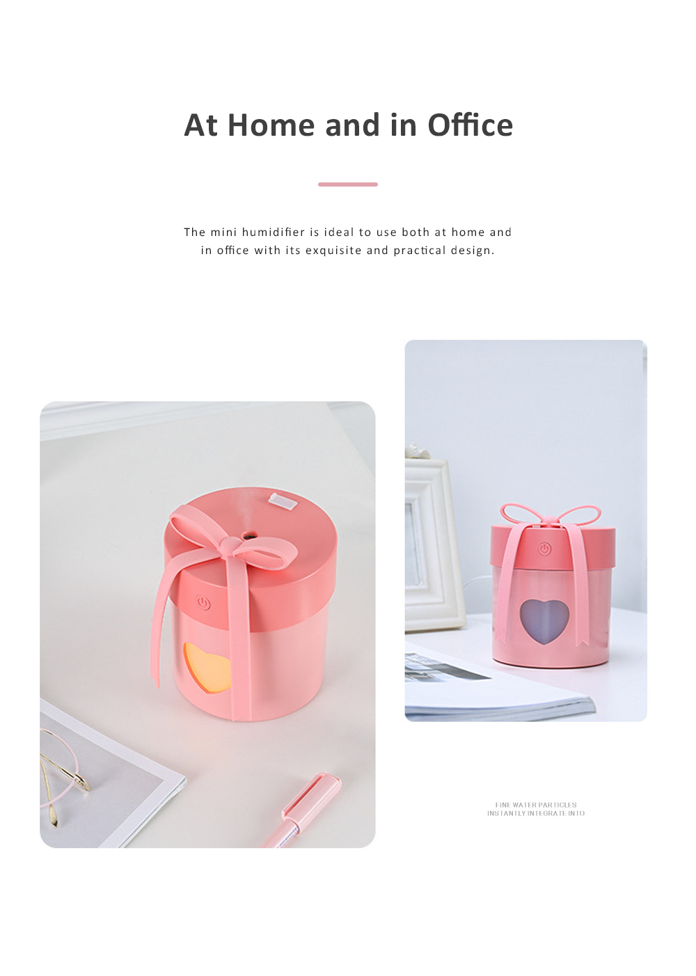 Multi-functional Portable Mini Air Humidifier Domestic Desk Moisturizer with Fan LED Night Lamp 1