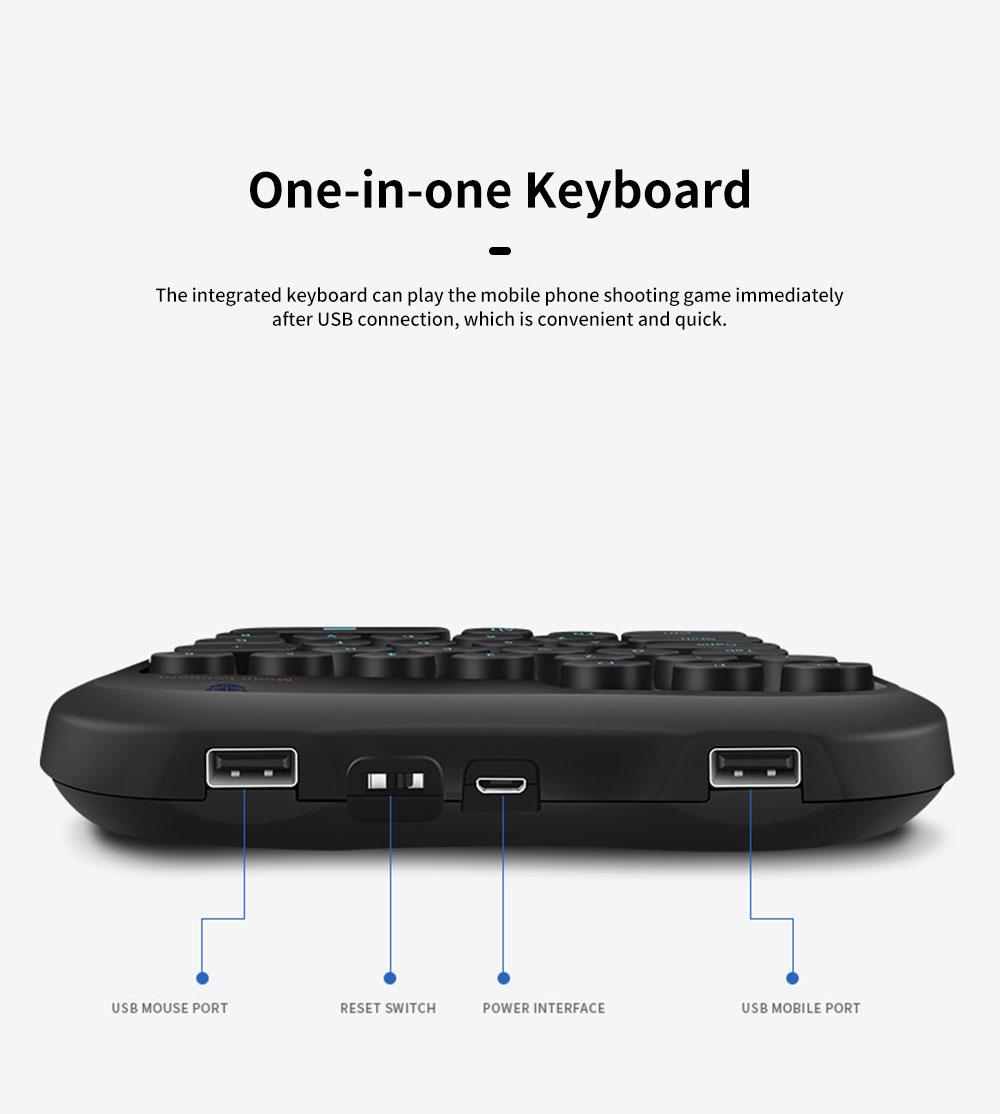 Mobile Game One-Handed Keyboard King Glory LOL Game Keyboard 1