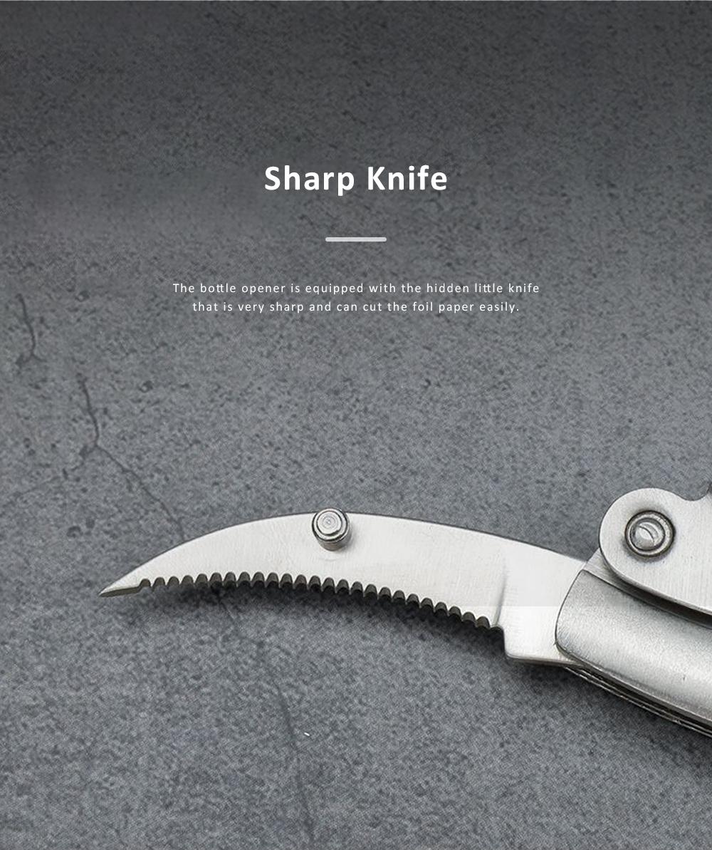 OX Bone Bottle Opener Stainless Steel Thickened Wine Bottle Opener with Little Knife 2