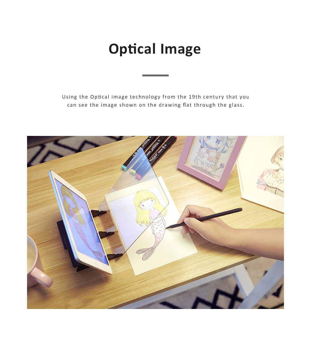 Optical Image Drawing Tool Set for Beginners Optical Copying Facsimile Imitation Glass Mirror with APP Support 1