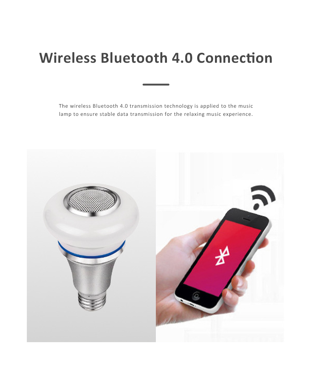 Bluetooth Music Bulb Lamp for Bedroom Coffee Café Intelligent Color Shifting Music Lamp with E27 Bulb Bluetooth Remote Control Music Lamp 1