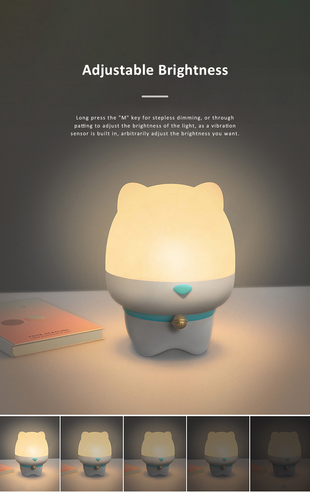 USB Rechargeable Romantic Pet Bluetooth Projection Lamp Rotation Night Lamp Speaker Box With Remote Control 5