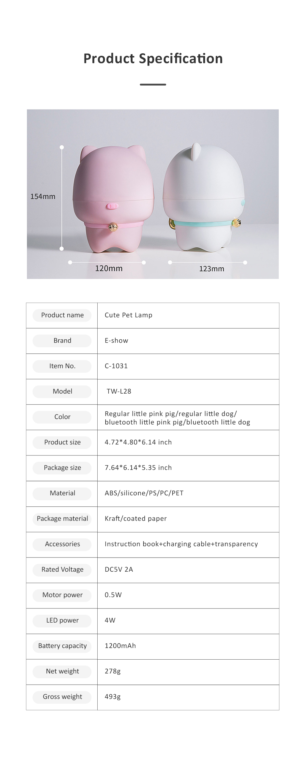 USB Rechargeable Romantic Pet Bluetooth Projection Lamp Rotation Night Lamp Speaker Box With Remote Control 6