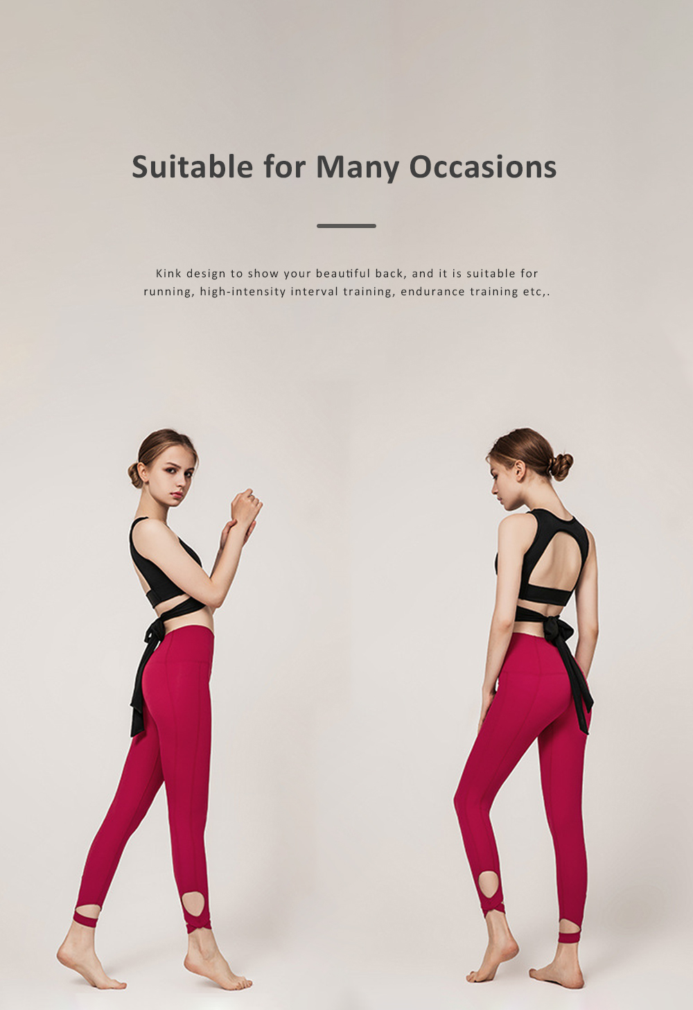 Women's Ultra Soft Yoga Suit With Strap-on Bra and High Waist Tummy Control Workout Leggings 4