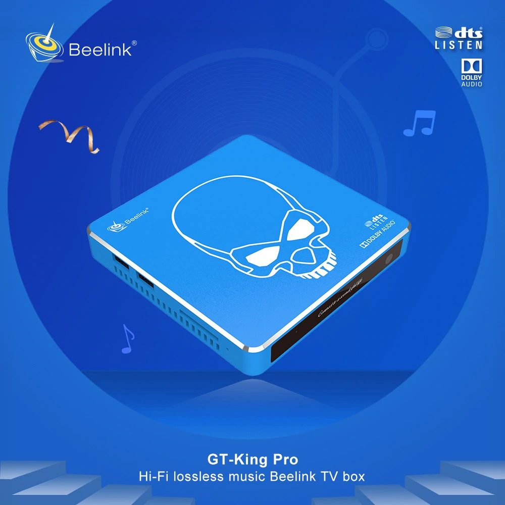 Beelink GT-King Pro Super HD 4K TV Box 2.4G Voice Remote Control Most Powerful S922X Hexa Core HI-FI Android 9.0 Smart Set Top Box 4+64GB 0