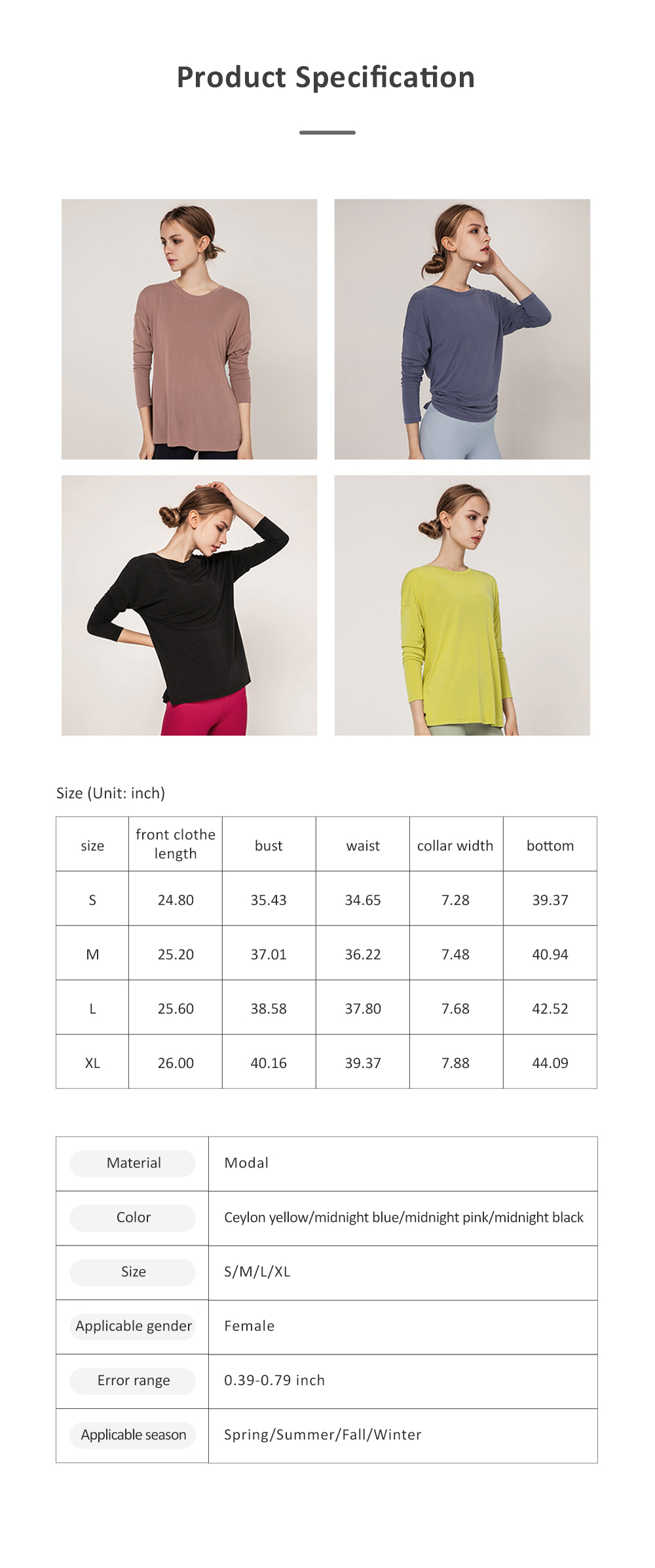 Yoga Tops Workout Shirts for Women with Sexy Backless and Long Sleeves Casual Loose Yoga Shirts Blouses 6