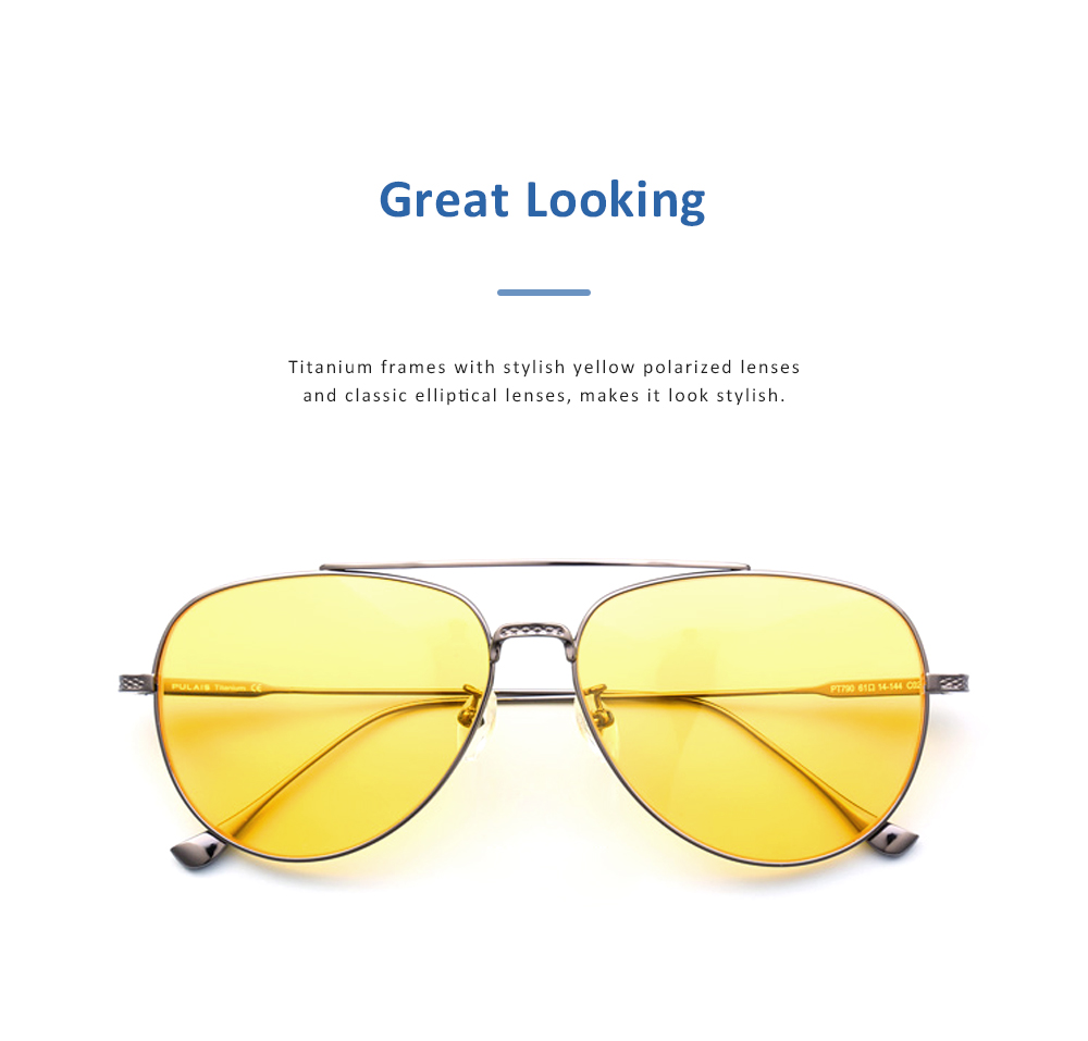 Anti Glare Night Vision Glasses with Yellow Polarized Lens and Anti-UV 400 Sunglasses for Men Night Outdoor Driving 4