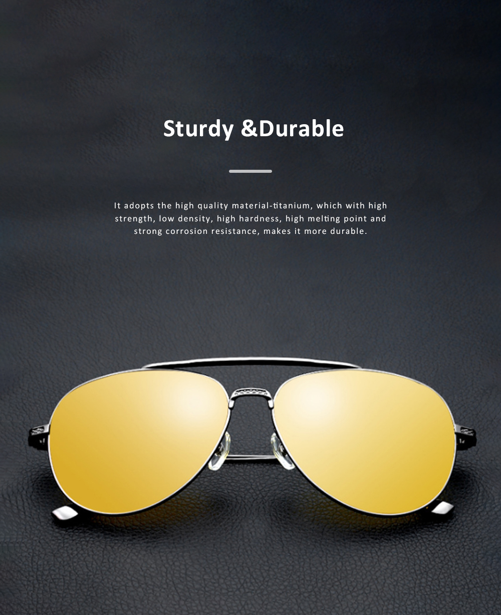 Anti Glare Night Vision Glasses with Yellow Polarized Lens and Anti-UV 400 Sunglasses for Men Night Outdoor Driving 2