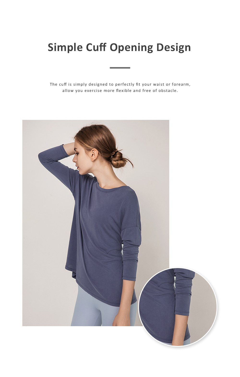 Yoga Tops Workout Shirts for Women with Sexy Backless and Long Sleeves Casual Loose Yoga Shirts Blouses 3