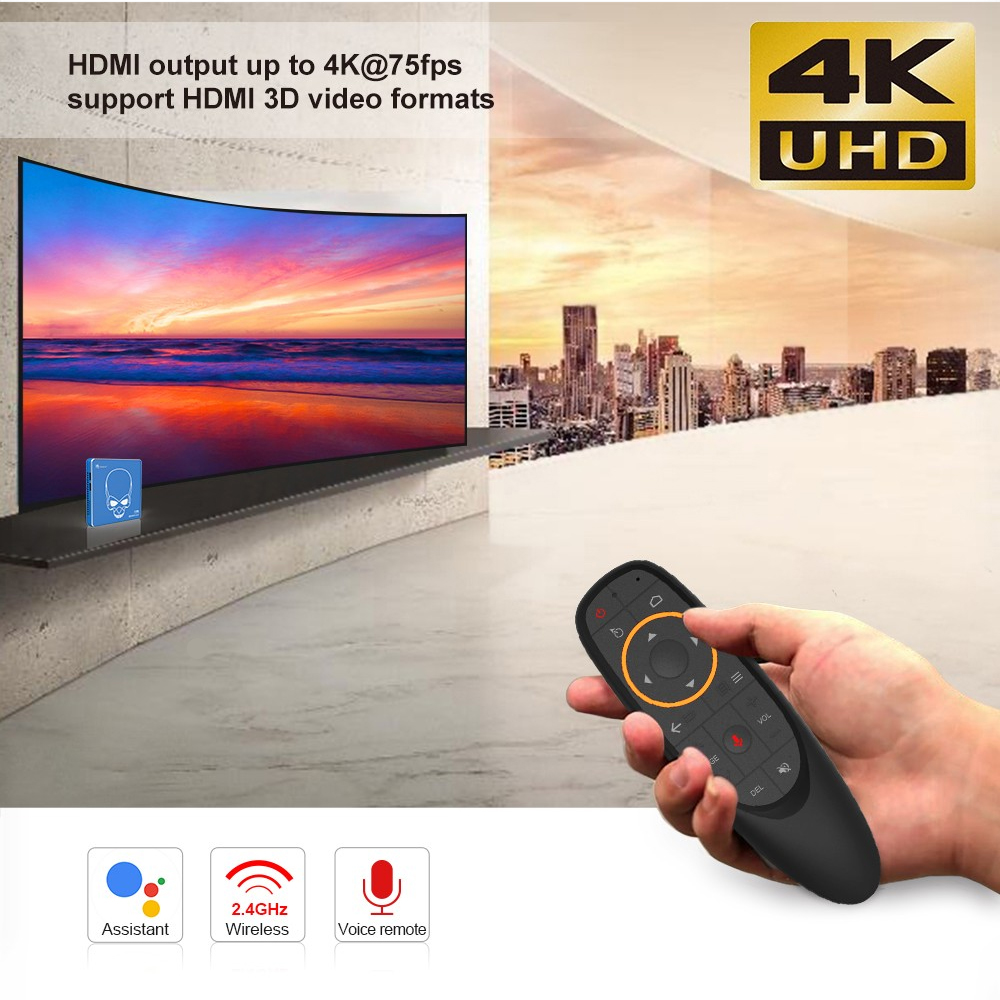 Beelink GT-King Pro Super HD 4K TV Box 2.4G Voice Remote Control Most Powerful S922X Hexa Core HI-FI Android 9.0 Smart Set Top Box 4+64GB 6