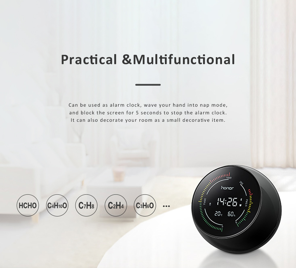 Huawei HONOR TVOC Air Quality Monitor Temperature Humidity PM2.5 Detector for Indoor Real Time Air Pollution Detection 7