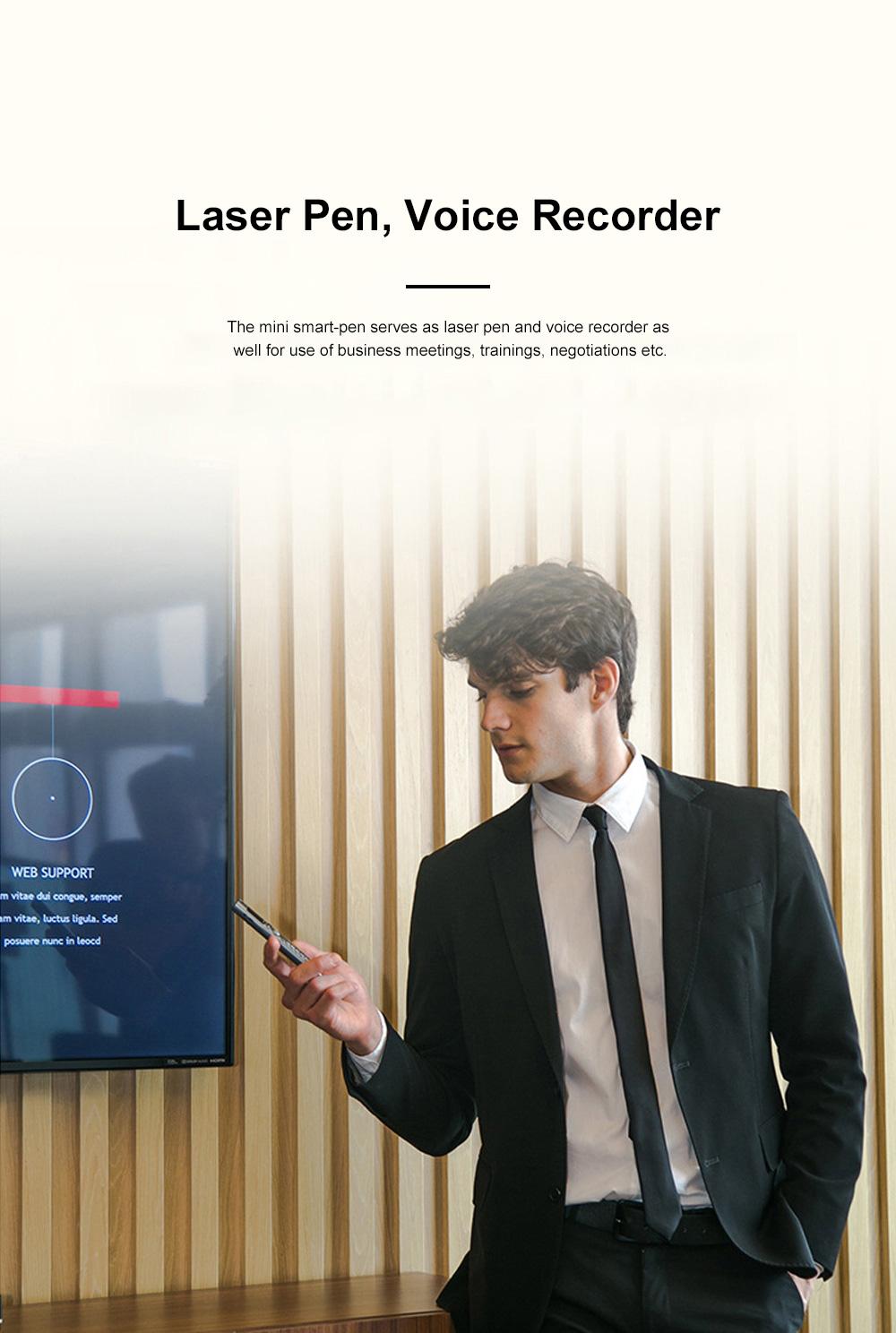 Mini Recording Smart-pen for Multifunctional Portable Exquisite Pen-like Smartphone Laser Pointer Digital Voice Recorder Backup Device 3