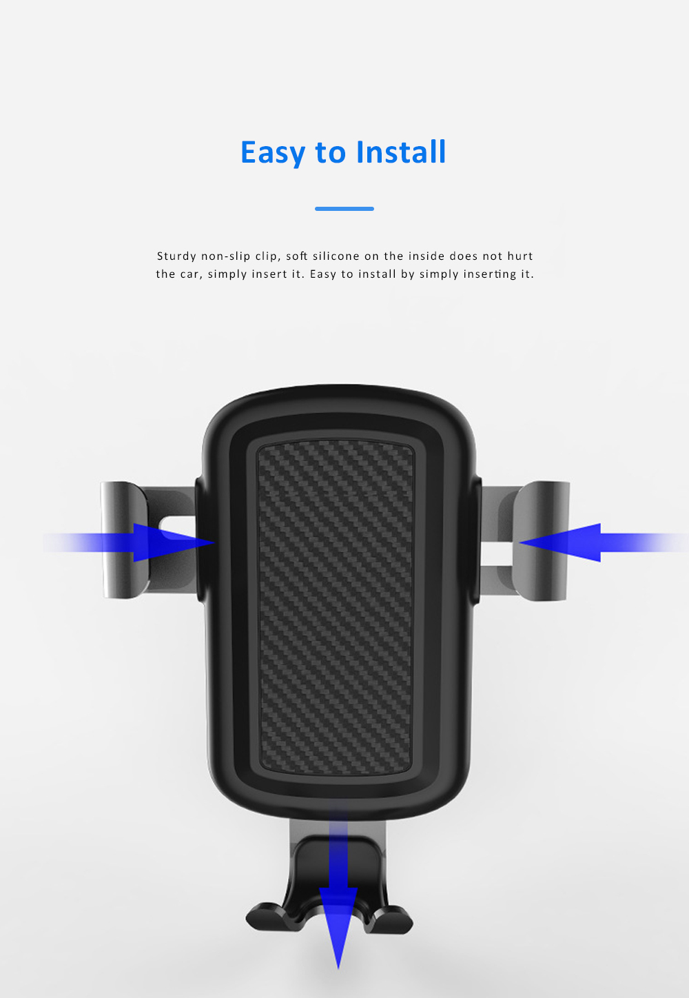 Car Phone Mount for iPhoneX iPhone 8plus Anti-Slip 360°Rotation Air Vent Car Phone Holder with Gravity Sensor 6