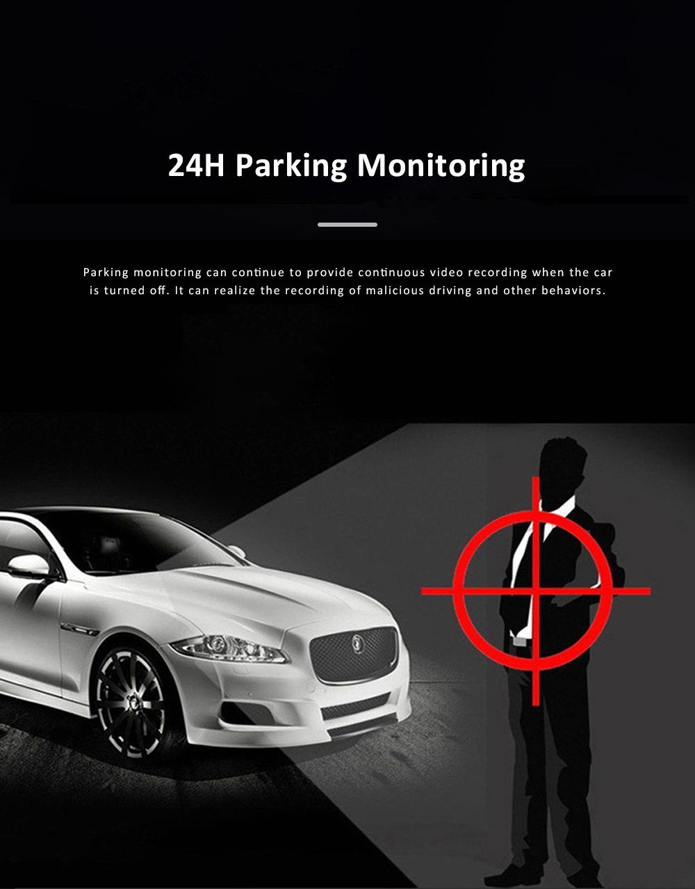 Wide Angle Car Dash Cam Full HD 1080P Dash Camera with G-Sensor Parking Monitor 24H Loop Recording Dual Dash Camera Front and Rear 8