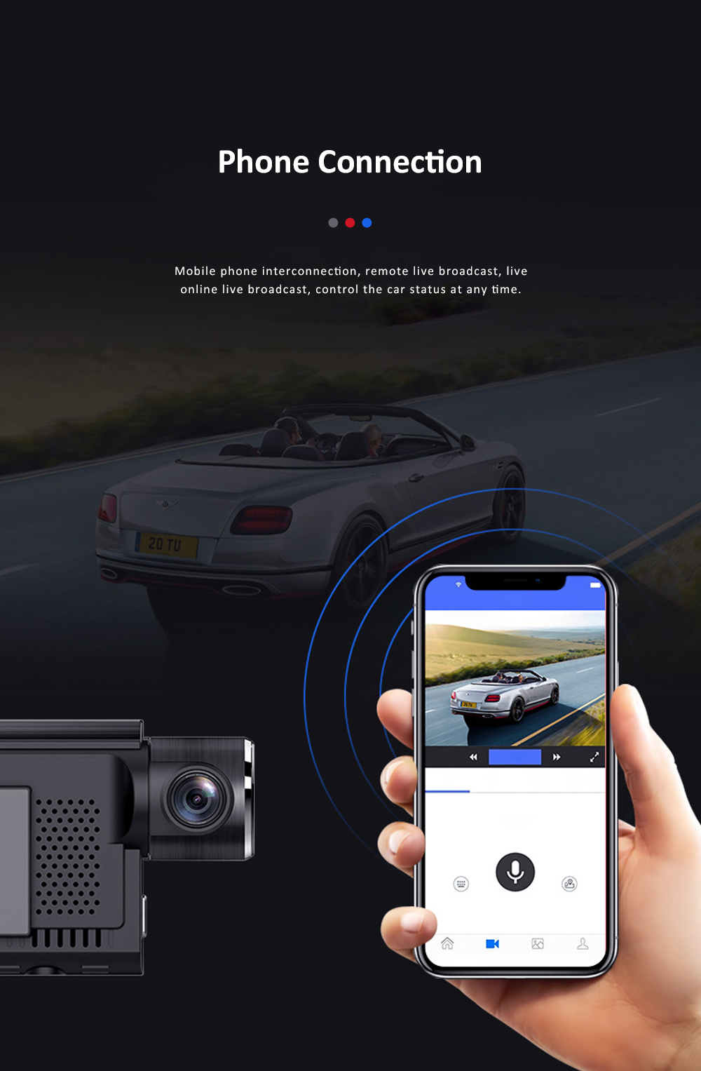 Hidden Car Recorder 1080P HD Dash Cam with Superior Night Model Wide Angle Voice Control G-Sensor Parking Monitor 9