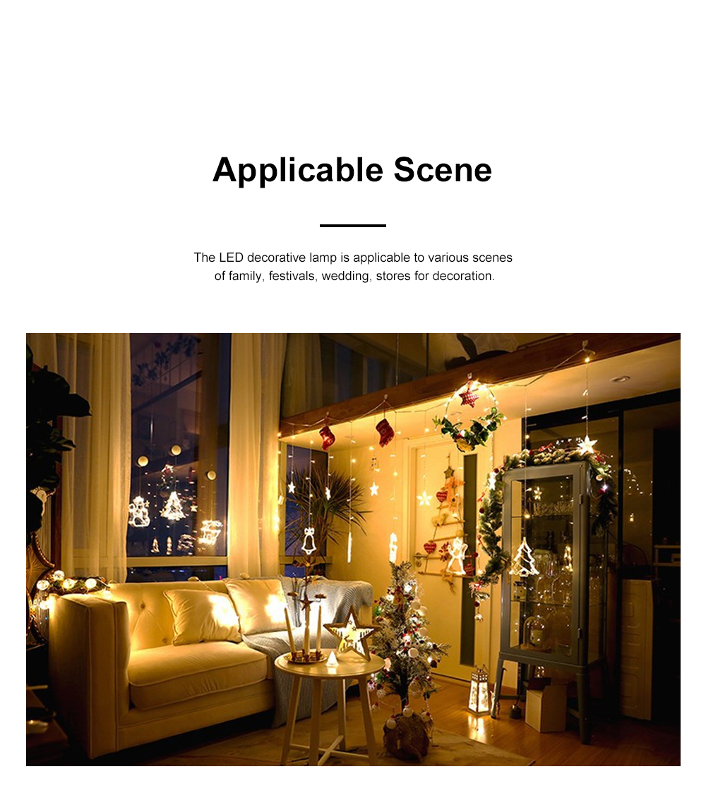 Christmas Festival Lights for Shop Window Parties Battery-powered Fairy Lamp LED Push Lights Christmas Tree Decoration Lamp 3