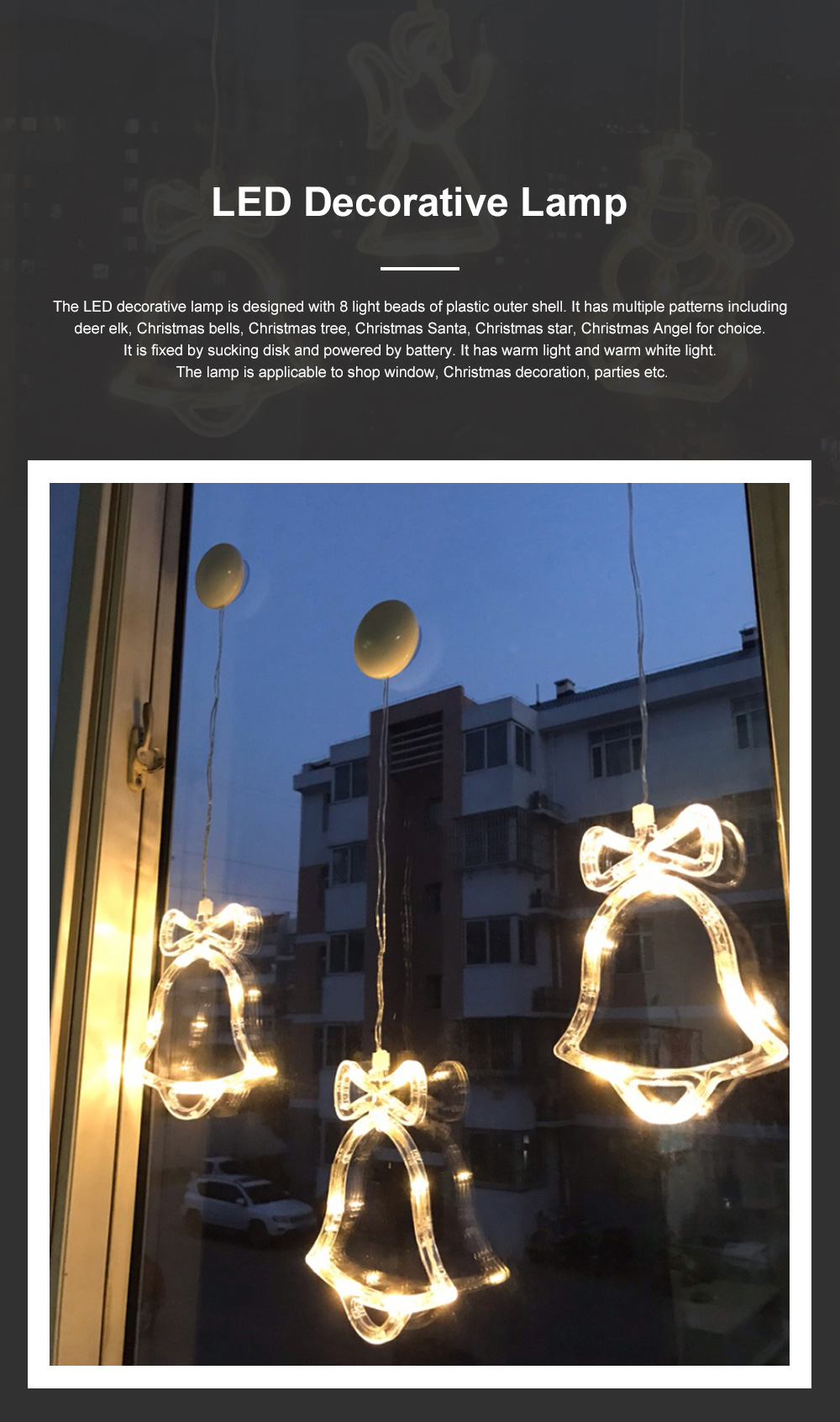Christmas Festival Lights for Shop Window Parties Battery-powered Fairy Lamp LED Push Lights Christmas Tree Decoration Lamp 0