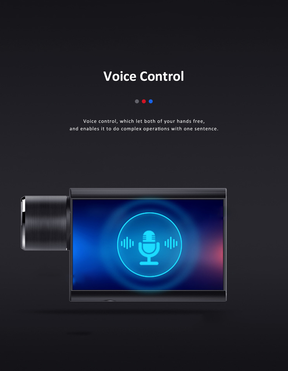 Hidden Car Recorder 1080P HD Dash Cam with Superior Night Model Wide Angle Voice Control G-Sensor Parking Monitor 5