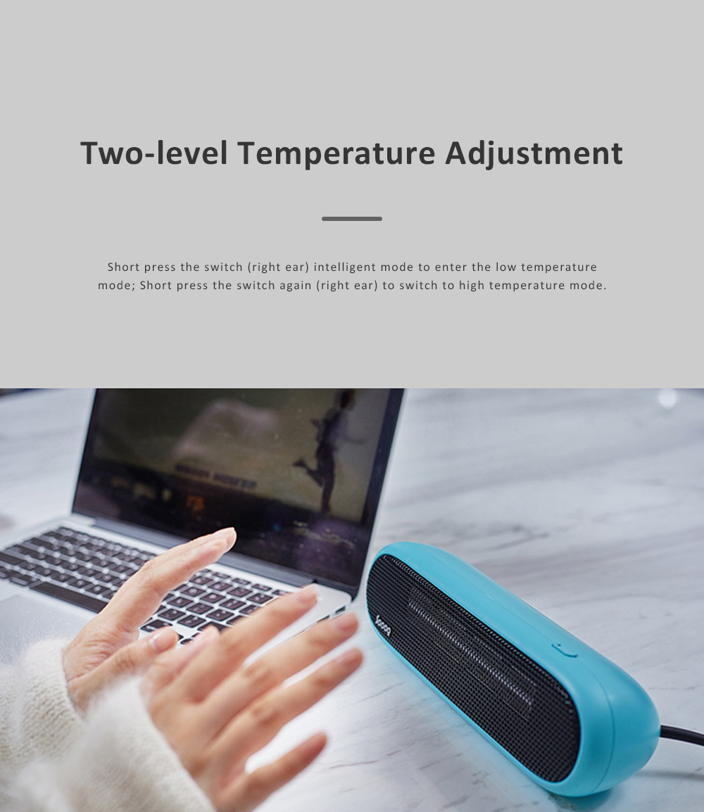 Ceramic Electric Fan Heater Fast Heating Hand Warmer with Overheat Protection and Intelligent Induction Mode Warm Air Blower for Indoor Home Office 2