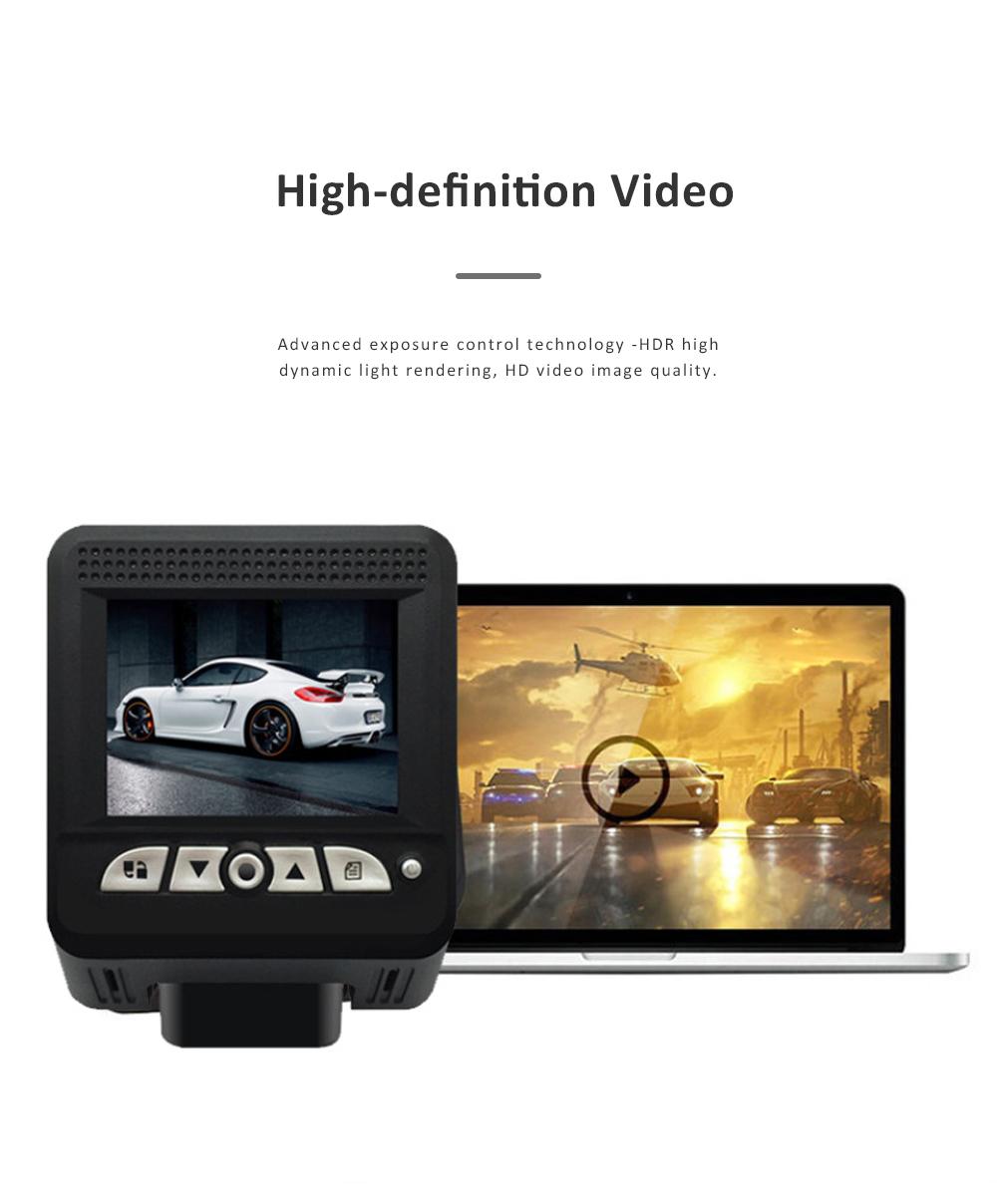 Wide Angle Car Dash Cam Full HD 1080P Dash Camera with G-Sensor Parking Monitor 24H Loop Recording Dual Dash Camera Front and Rear 4