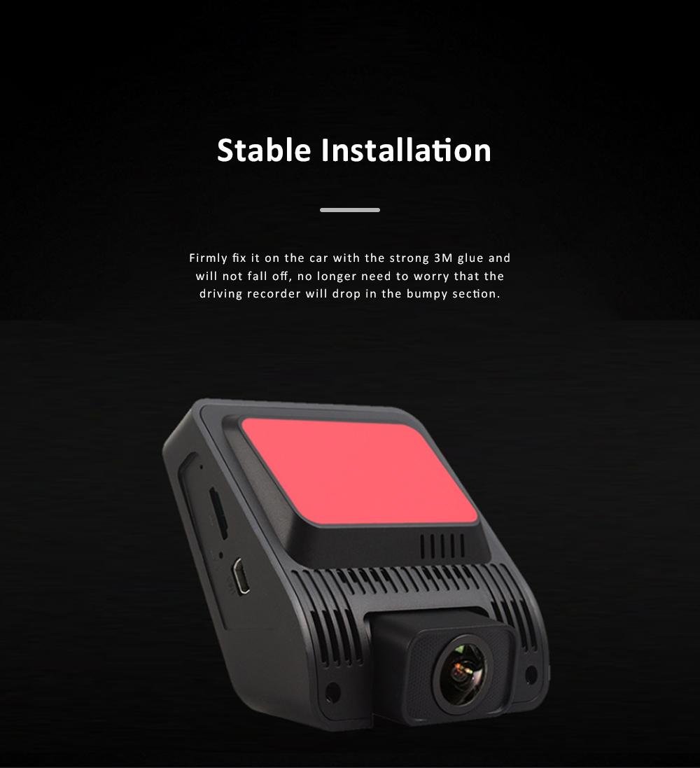 Wide Angle Car Dash Cam Full HD 1080P Dash Camera with G-Sensor Parking Monitor 24H Loop Recording Dual Dash Camera Front and Rear 1