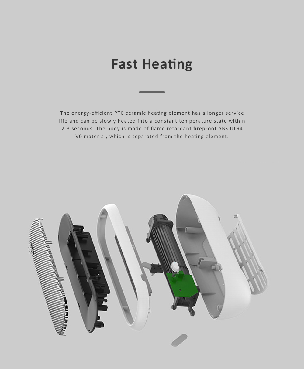Ceramic Electric Fan Heater Fast Heating Hand Warmer with Overheat Protection and Intelligent Induction Mode Warm Air Blower for Indoor Home Office 6