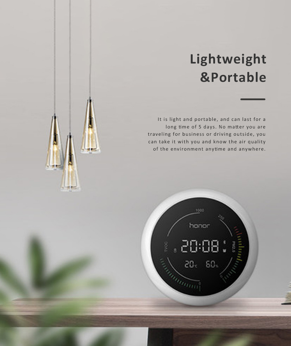 Huawei HONOR TVOC Air Quality Monitor Temperature Humidity PM2.5 Detector for Indoor Real Time Air Pollution Detection 6