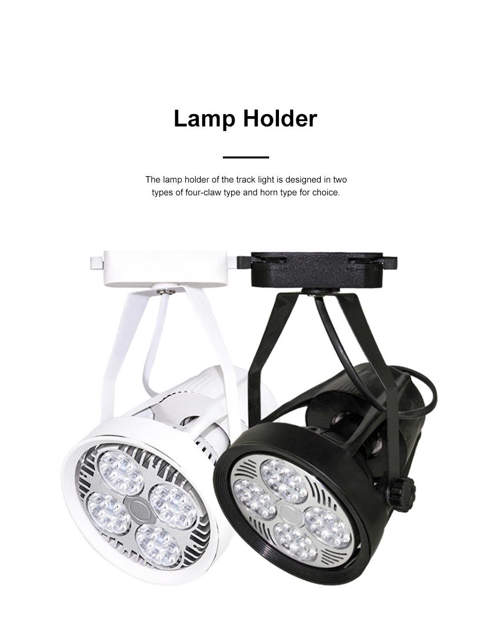 PAR30 Ultra-bright LED Track Lighting for Clothing Store Art Gallery Warm Light LED Track Lamp Free Rotation Lazy Arm Tracking Spotlight 1