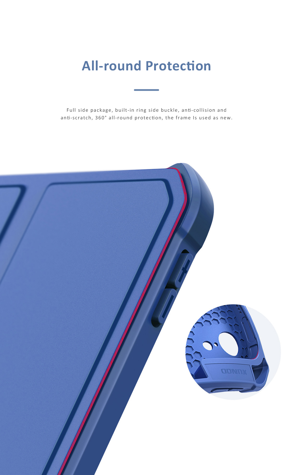 Magnetic Flip Protective Case for 2018 iPad Pro 11 Smart Stand Cover with Pencil Holder Support Auto Wake Sleep Function 3