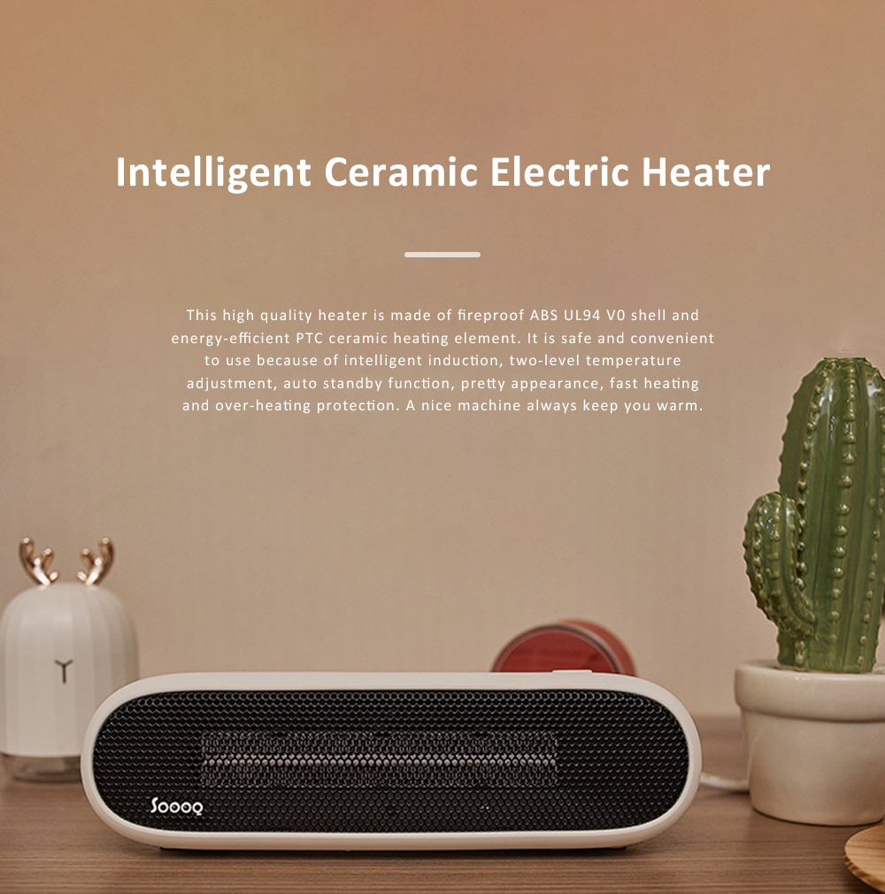 Ceramic Electric Fan Heater Fast Heating Hand Warmer with Overheat Protection and Intelligent Induction Mode Warm Air Blower for Indoor Home Office 0