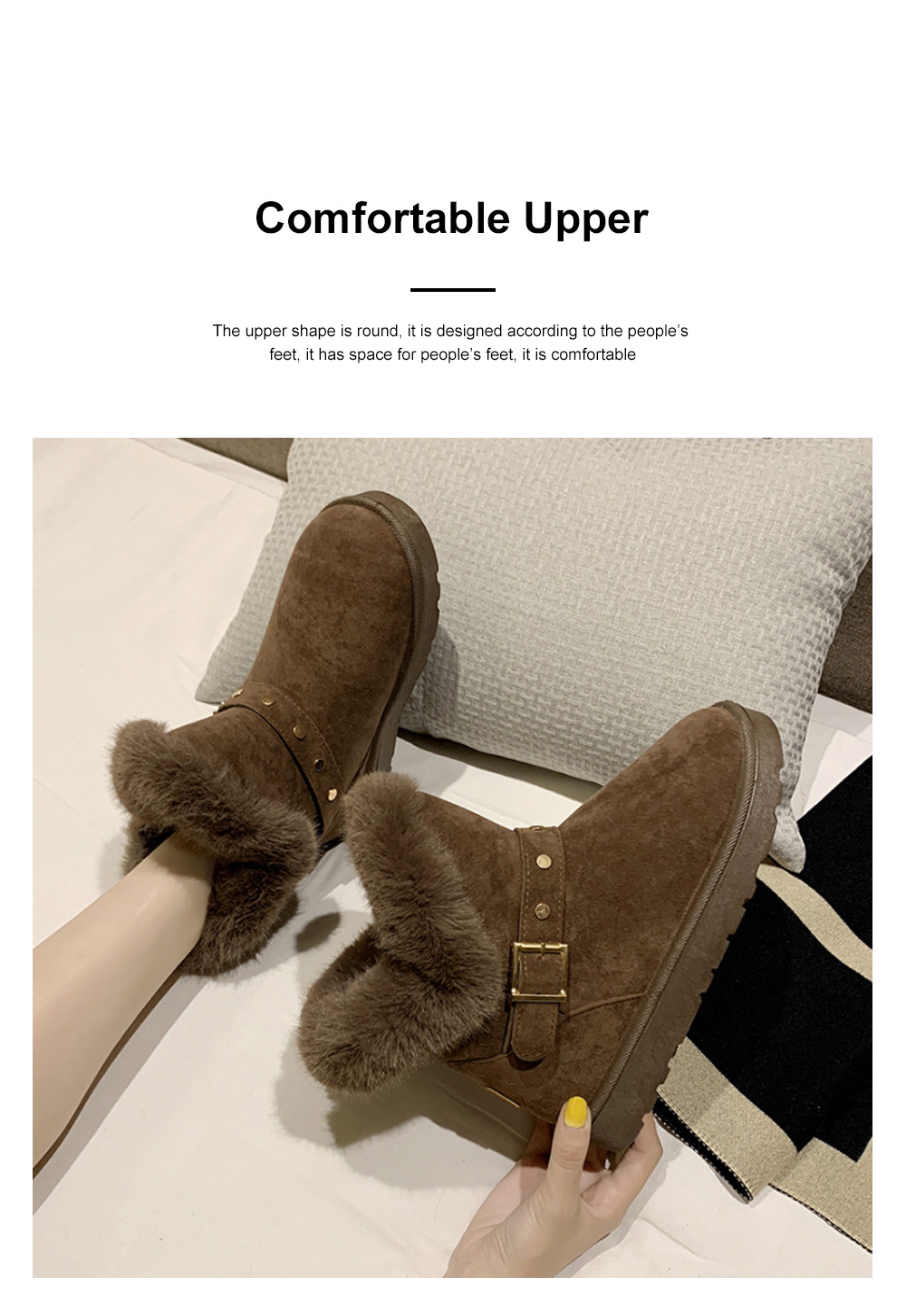 Winter Women Boots Shoes Warm Ankle Boots for Women 2019 Causal Winter Shoes Female Snow Boots 1