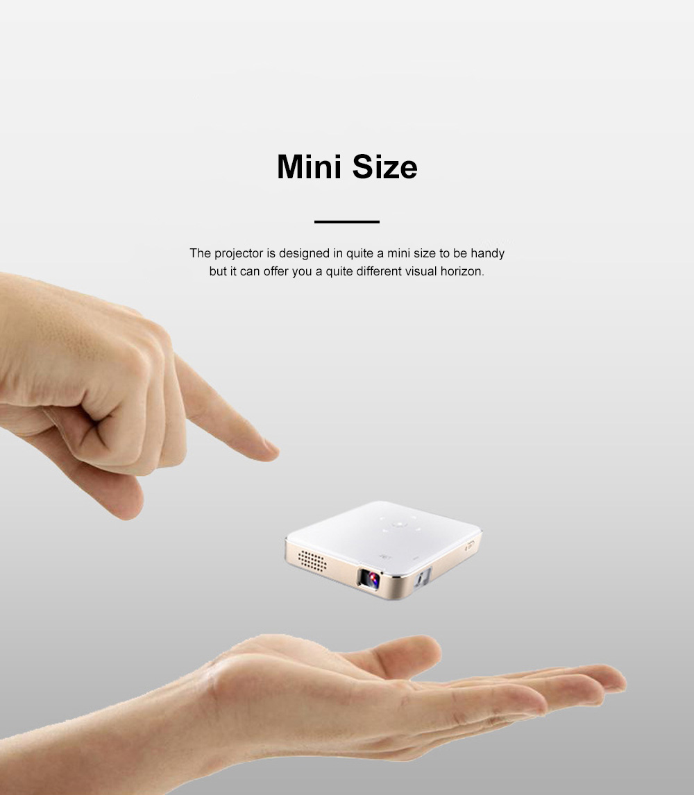 P65 Portable Mini Projector for Family Office Use High-resolution Projection Machine WIFI Wireless Mirroring Display 2