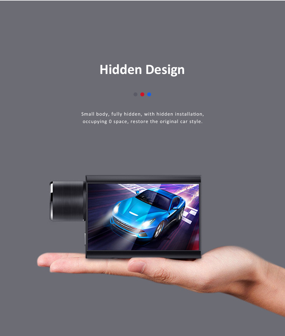 Hidden Car Recorder 1080P HD Dash Cam with Superior Night Model Wide Angle Voice Control G-Sensor Parking Monitor 4