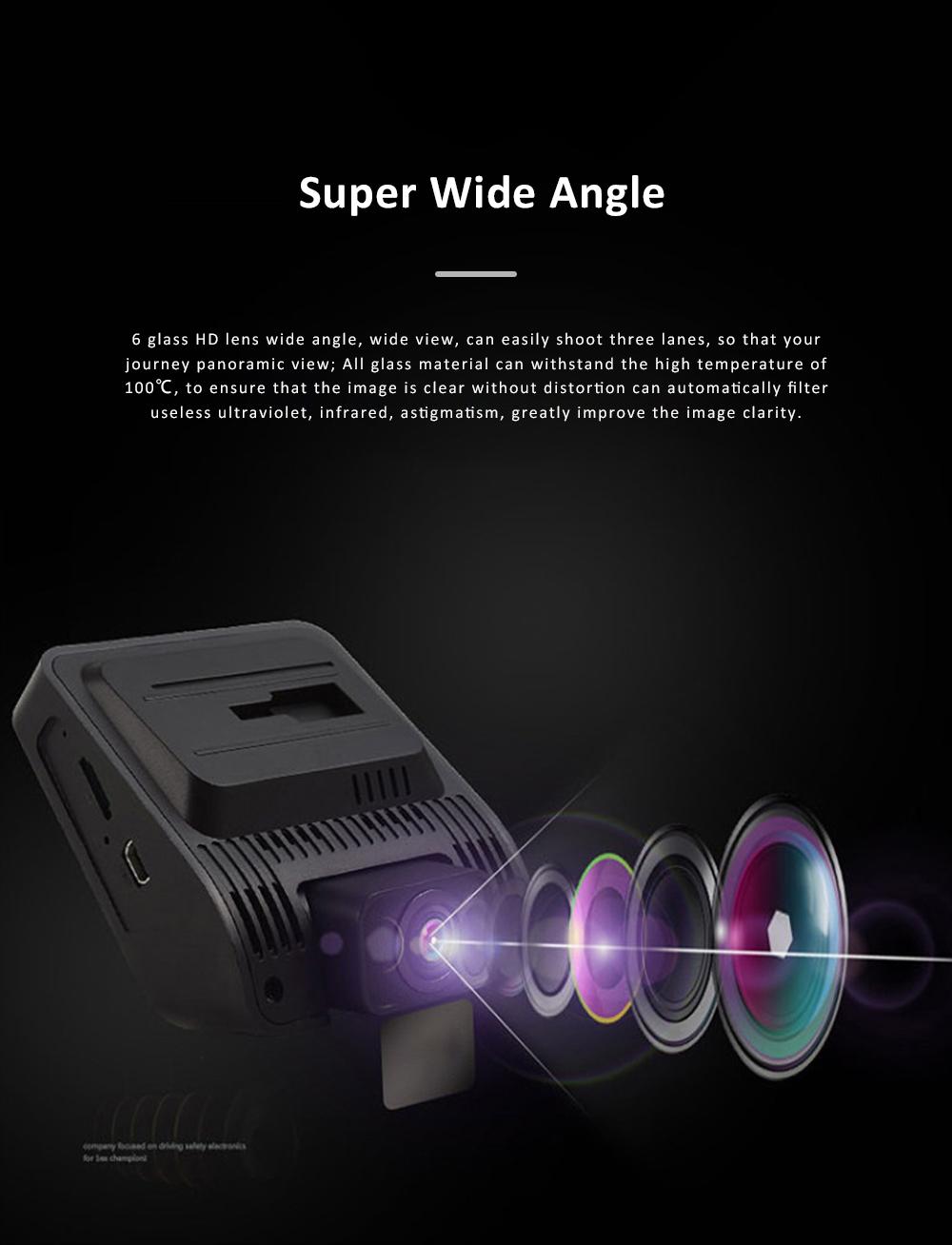Wide Angle Car Dash Cam Full HD 1080P Dash Camera with G-Sensor Parking Monitor 24H Loop Recording Dual Dash Camera Front and Rear 3
