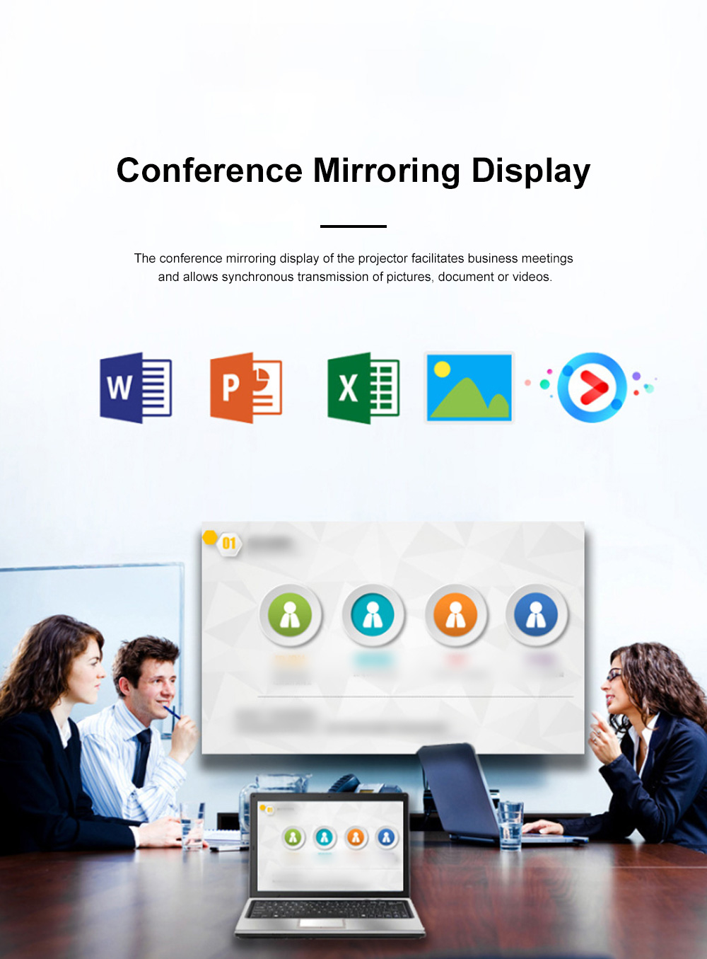 P65 Portable Mini Projector for Family Office Use High-resolution Projection Machine WIFI Wireless Mirroring Display 9