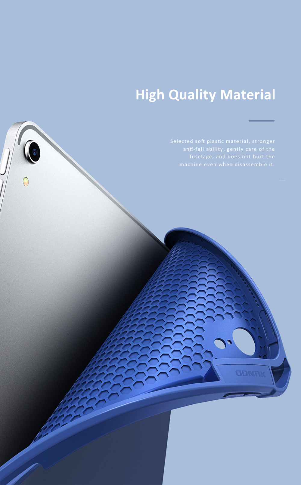 Magnetic Flip Protective Case for 2018 iPad Pro 11 Smart Stand Cover with Pencil Holder Support Auto Wake Sleep Function 2