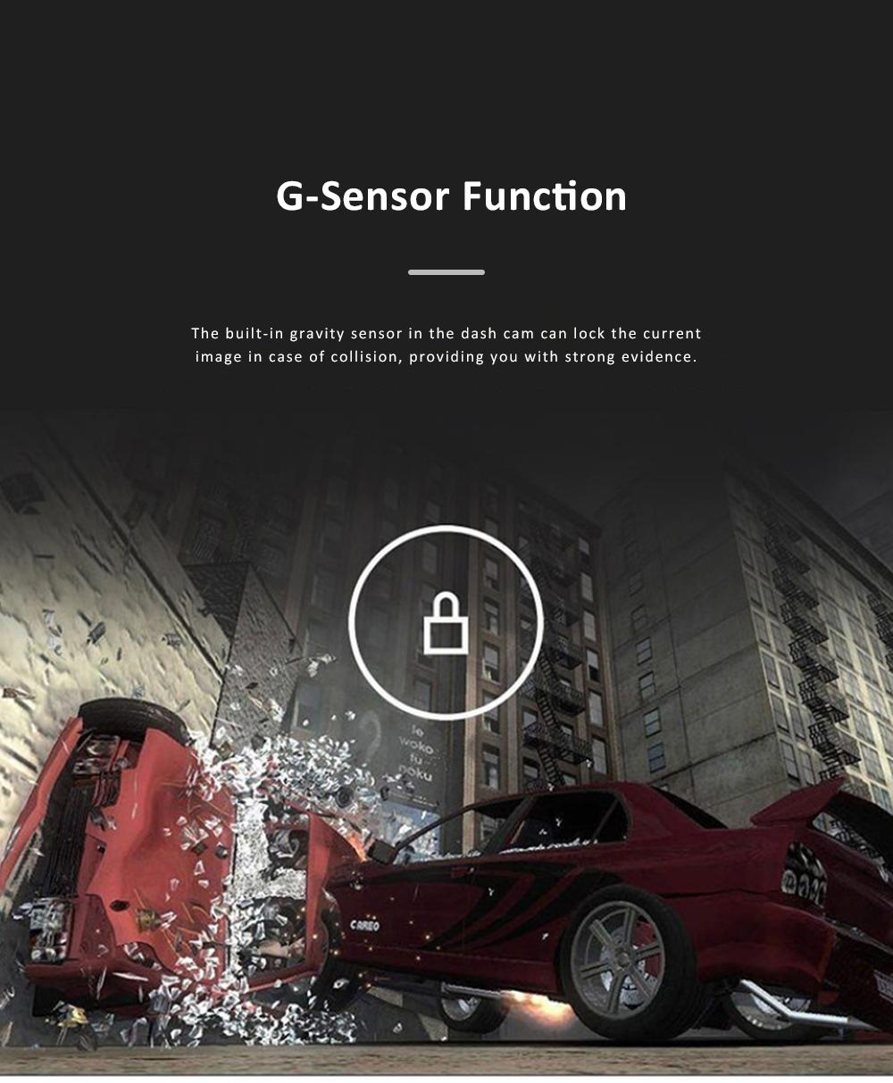 Wide Angle Car Dash Cam Full HD 1080P Dash Camera with G-Sensor Parking Monitor 24H Loop Recording Dual Dash Camera Front and Rear 5
