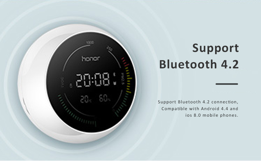 Huawei HONOR TVOC Air Quality Monitor Temperature Humidity PM2.5 Detector for Indoor Real Time Air Pollution Detection 4