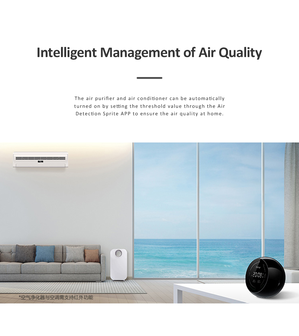 Huawei HONOR TVOC Air Quality Monitor Temperature Humidity PM2.5 Detector for Indoor Real Time Air Pollution Detection 3