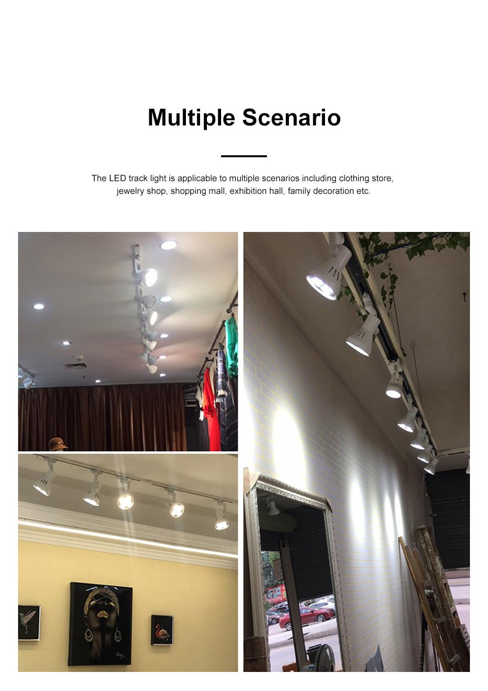 PAR30 Ultra-bright LED Track Lighting for Clothing Store Art Gallery Warm Light LED Track Lamp Free Rotation Lazy Arm Tracking Spotlight 3