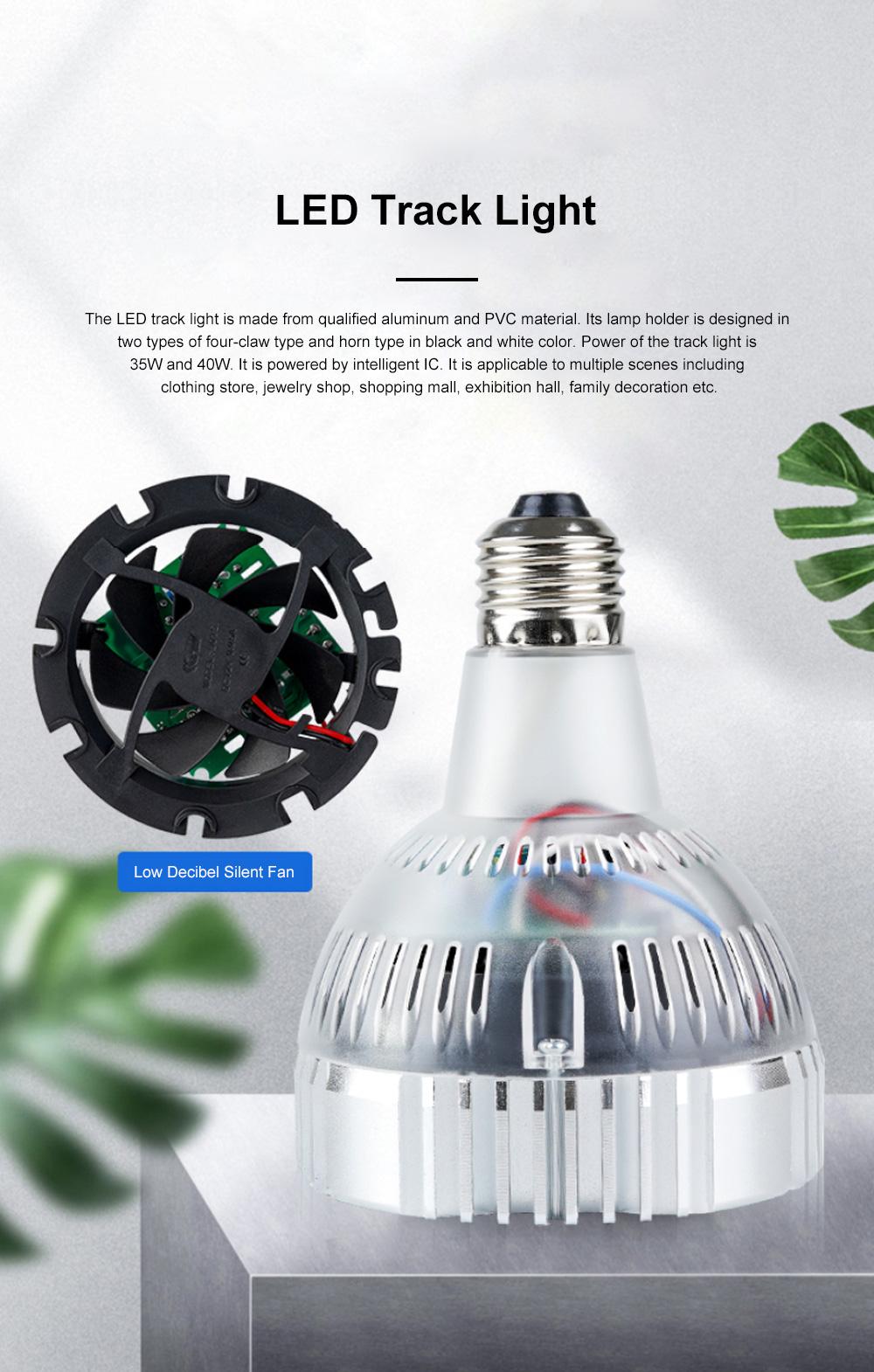 PAR30 Ultra-bright LED Track Lighting for Clothing Store Art Gallery Warm Light LED Track Lamp Free Rotation Lazy Arm Tracking Spotlight 0