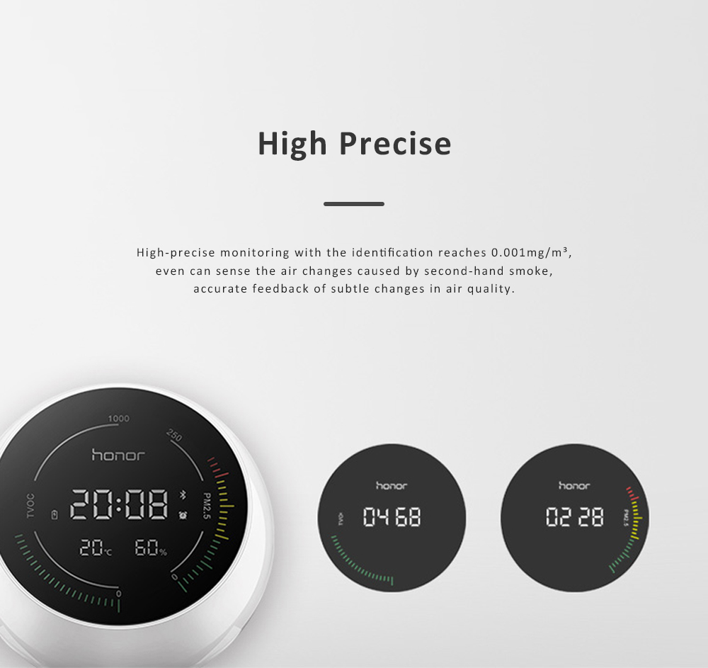 Huawei HONOR TVOC Air Quality Monitor Temperature Humidity PM2.5 Detector for Indoor Real Time Air Pollution Detection 2