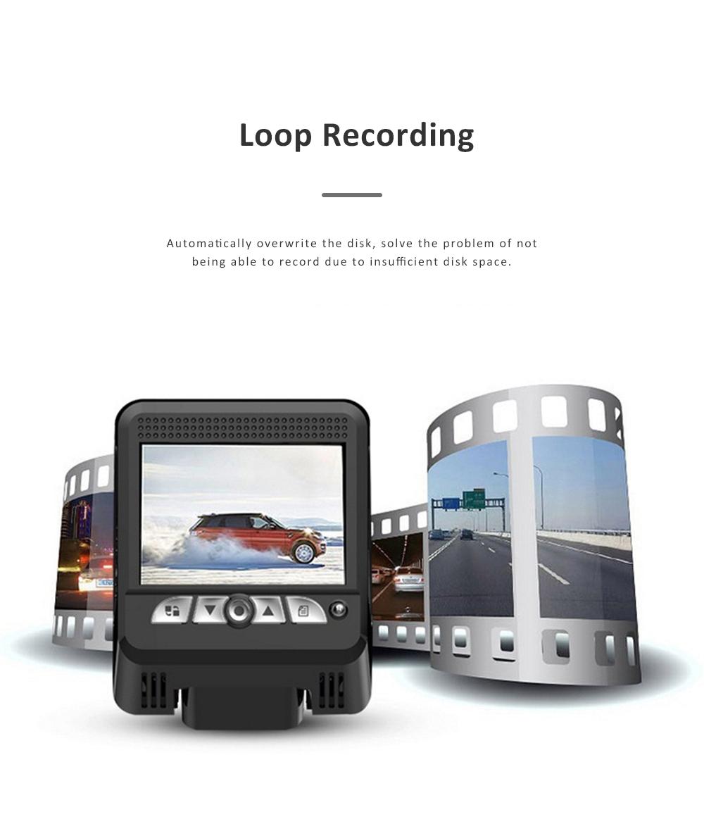 Wide Angle Car Dash Cam Full HD 1080P Dash Camera with G-Sensor Parking Monitor 24H Loop Recording Dual Dash Camera Front and Rear 6