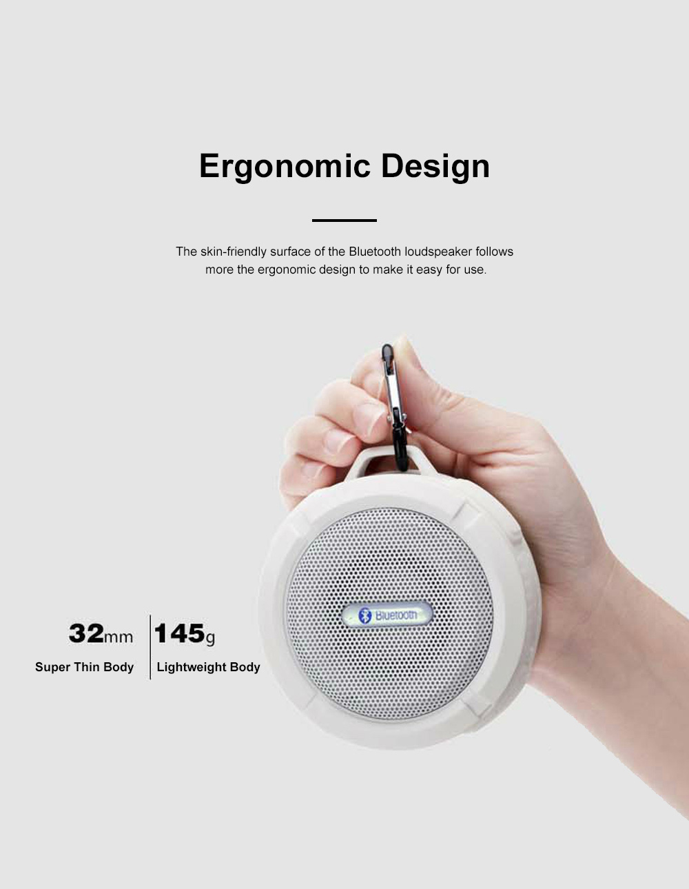 Waterproof Bluetooth Loudspeaker for Outdoors Travelling Hiking Portable Outdoor Mini Speaker Box Anti-dust Baffle Box With Suction Cup & Hook 6