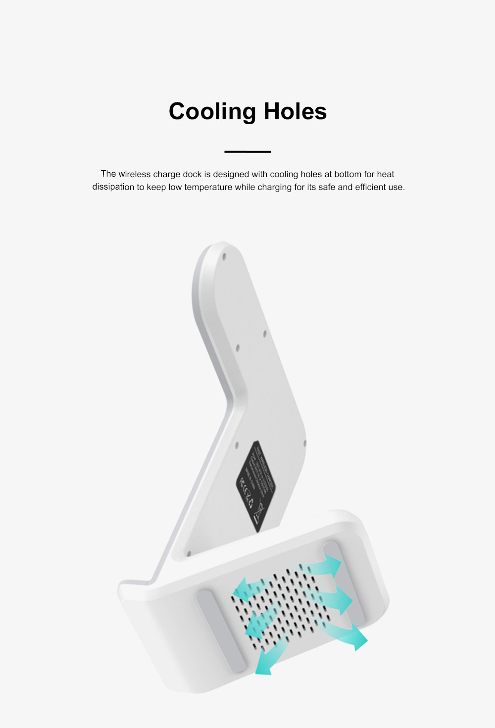 Vertical Wireless Charger Upright Quick-acting Two in One Recharger Compatible for iPhone X iWatch Samsung Wireless Charge Dock 4