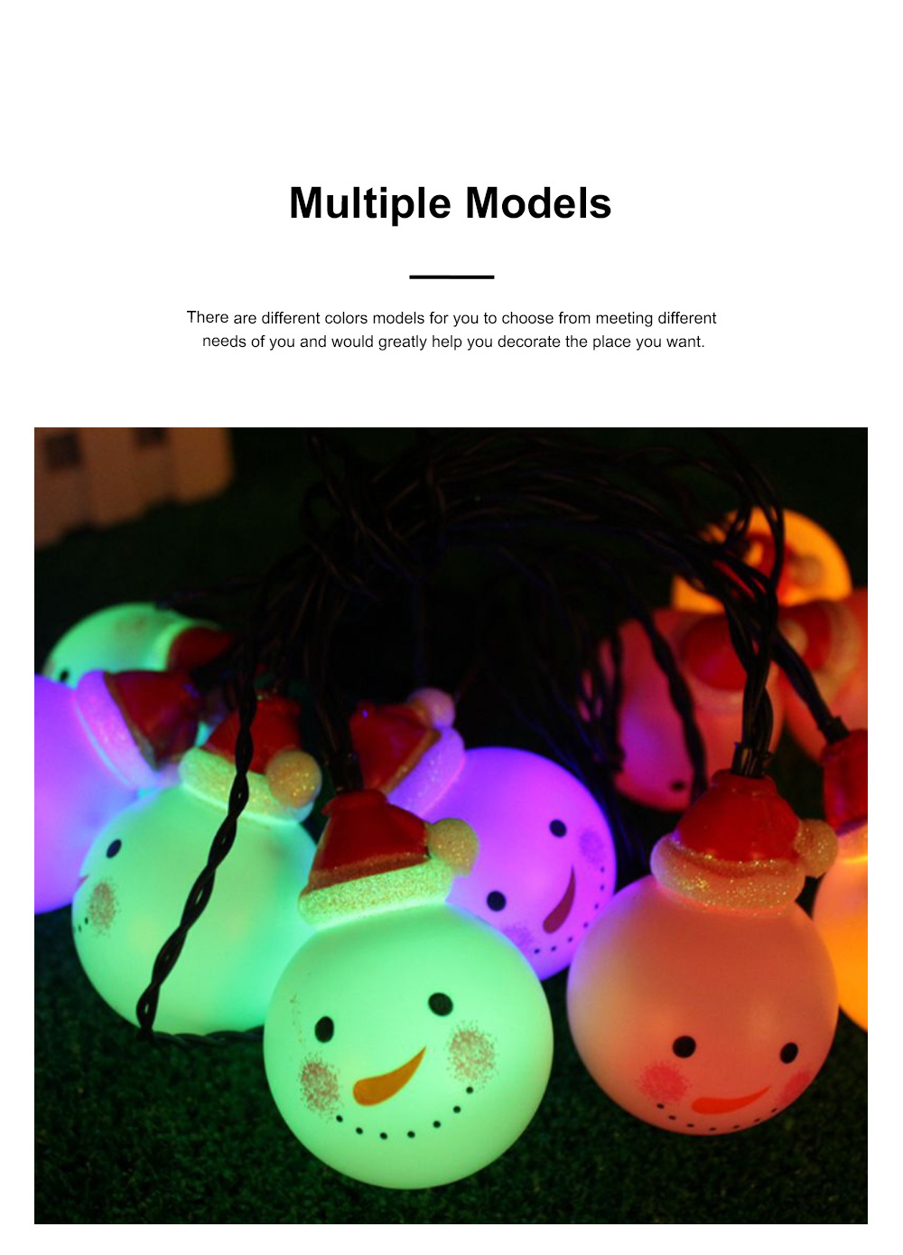 Cute Delicate 10 20 30 Leds Cozy Romantic Snowman Lights String Christmas Lamps Party Courtyard Decoration Ornaments 1