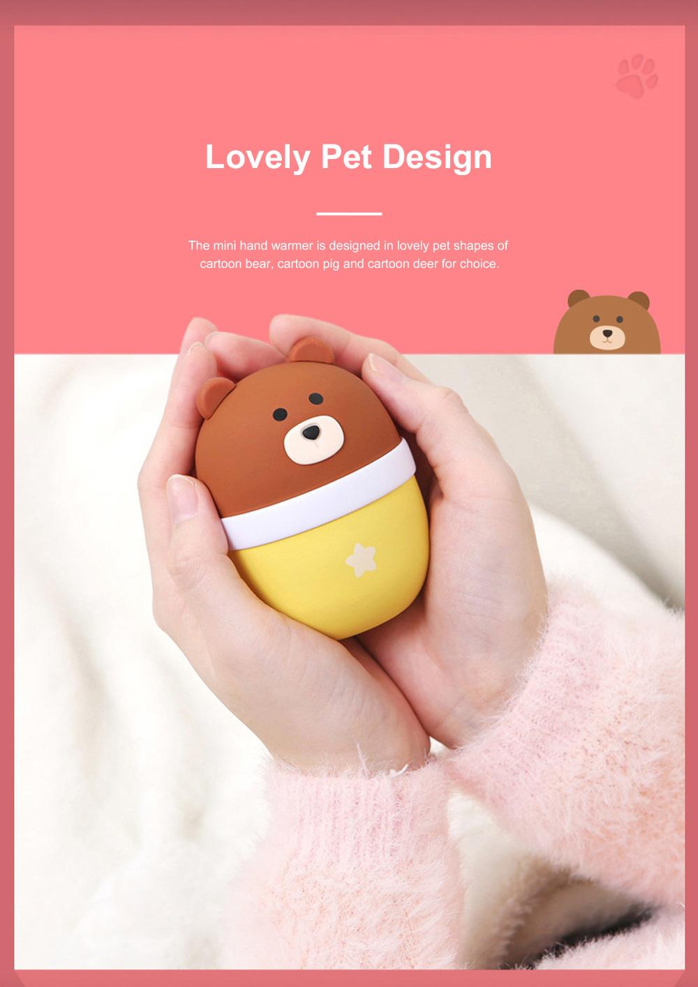 Lovely Pet Hand Warmer Mini Portable Soft Hand Warmer Large Capacity Portable Power Bank Christmas Gift 2